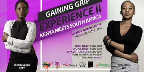 GAINING GRIP EXPERIENCE 2 tickets