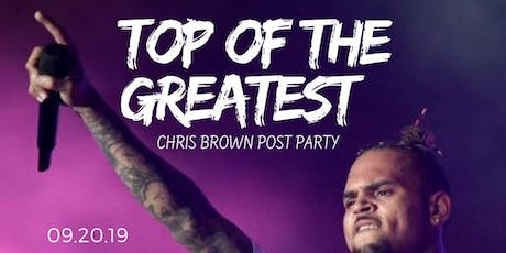 Chris Brown Post Party @ The Greatest Bar tickets