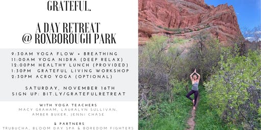 GRATEFUL. A Day Retreat @ Roxborough Park