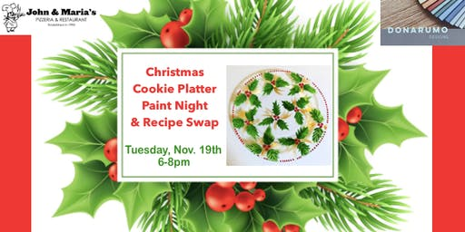 Christmas Cookie Platter Paint Night & Recipe Swap
