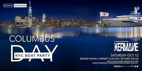 NYC Columbus Day Weekend Statue of Liberty Boat Party tickets