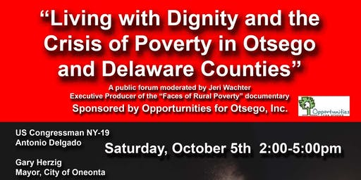 Living with Dignity & the Crisis of Poverty in Otsego & Delaware Counites