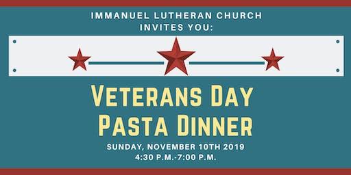 Veterans Day Pasta Dinner 2019