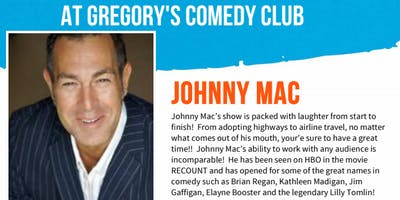 Gregory's Cocoa Beach Comedy Club October 17 - 19 !