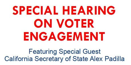 Special Hearing on Voter Suppression and Engagement tickets