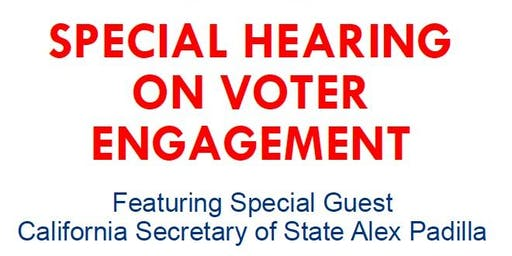 Special Hearing on Voter Suppression and Engagement
