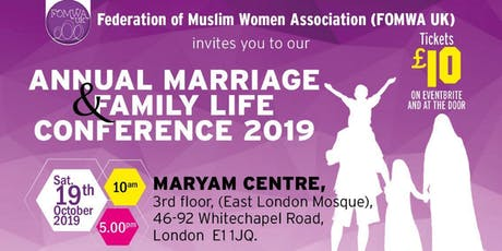 Marriage and Family life Conference 2019 tickets