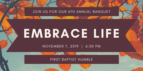 Embrace Life LifeLine's 6th Annual Banquet tickets