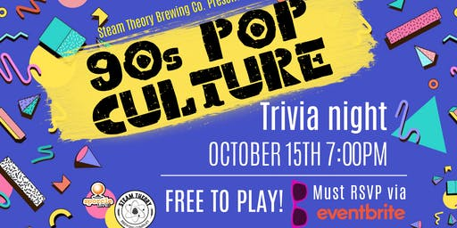 Sporcle Live presents: 90s Pop Culture trivia at Steam Theory Brewing!