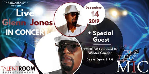 GLENN JONES ORLANDO AREA LIVE IN CONCERT
