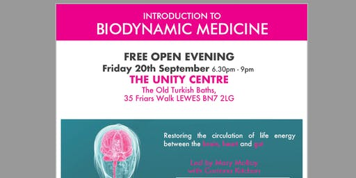 FREE OPEN EVENING - INTRODUCTION TO BIODYNAMIC MEDICINE