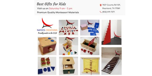 An Invitation to Visit Our Showroom - Premium Quality Montessori Materials - Houston, Pearland, TX