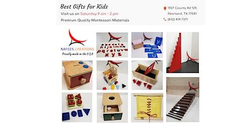An Invitation to Visit Our Showroom - Premium Quality Montessori Materials - Houston, Pearland, TX