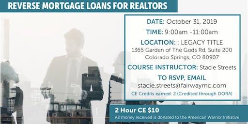 Reverse Mortgage Loans for Realtors- $10.00