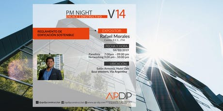 PM NIGHT Vol 14 Reglamento de Edificación Sostenible tickets