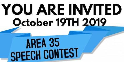 Toastmasters Fall Speech Contest Area 35