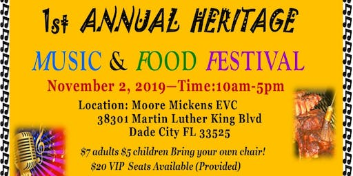 1st Annual Heritage Music & Food Festival