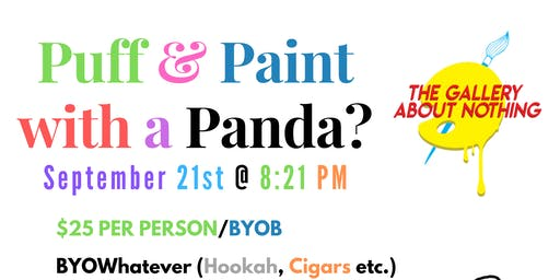 Puff n Paint with a Panda (At An Gallery)