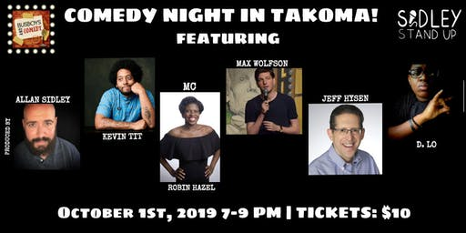 Busboys and Poets presents Comedy Night | Takoma | October 1st, 2019 | Produced by Allan Sidley