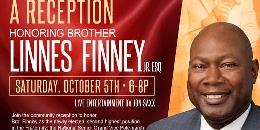 Kappa Alpha Psi Fraternity, Inc. Reception in Honor of Brother Linnes Finney