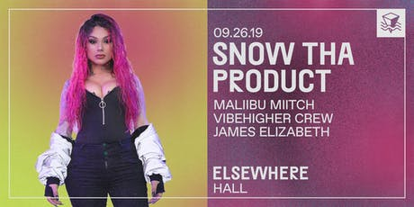 Snow Tha Product @ Elsewhere (Hall) tickets
