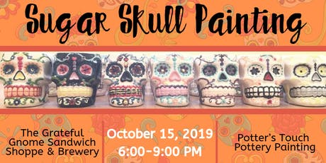 Sugar Skull Painting at The Grateful Gnome Sandwich Shoppe & Brewery tickets