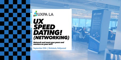 UXPALA - UX Speed Dating (NETWORKING) Fall 2019