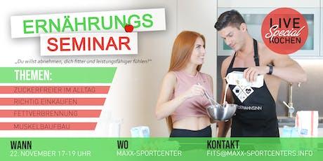 MaXX-Sportcenter || Ernährungsseminar || 22.11. Tickets
