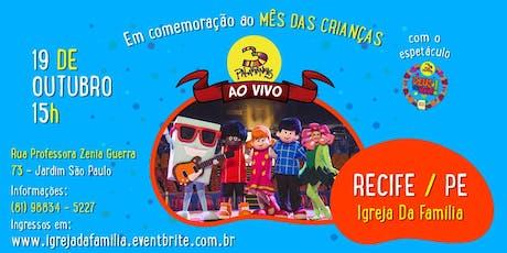 3 Palavrinhas em Recife-PE ingressos