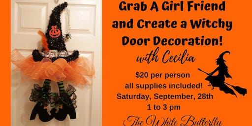 DIY Witchy Door Decoration