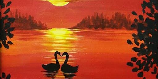 Love Swans Paint n Sip