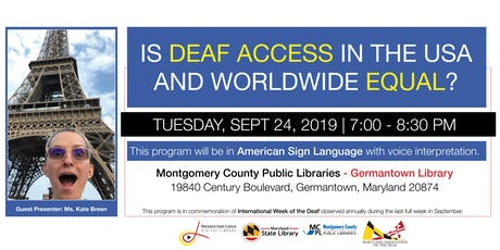 Is Deaf Access in the USA and Worldwide Equal? tickets