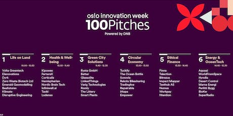 Oslo Innovation Week 100 Pitches Entry Round tickets