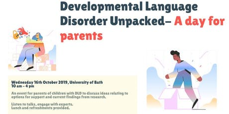 Developmental Language Disorder Unpacked: A day for parents tickets