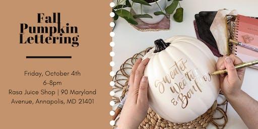 Fall Pumpkin Lettering
