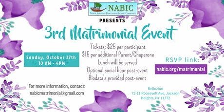 NABIC 3rd Matrimonial Event tickets