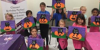 (ELGIN) Pumpkin Cat Family Paint It! Class-9/28/19 12-1pm