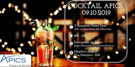 Cocktail de lancement APICS 2019-2020 tickets