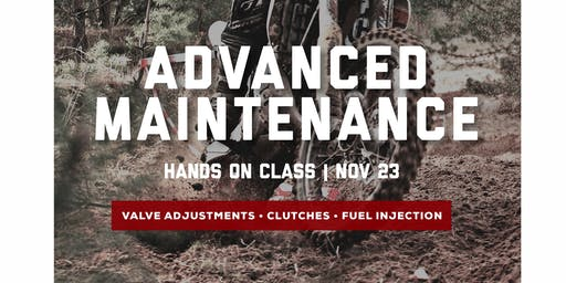 Advanced Maintenance Class