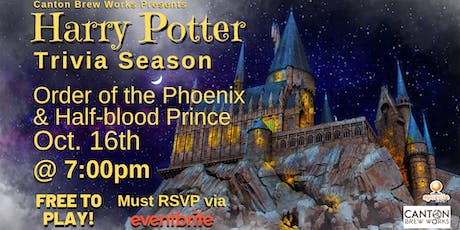 A season of Harry Potter trivia @ Canton Brew Works! Week Three tickets