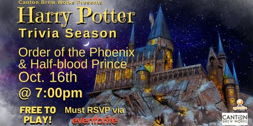 A season of Harry Potter trivia @ Canton Brew Works! Week Three