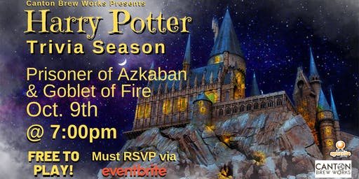 A season of Harry Potter trivia @ Canton Brew Works! Week Two