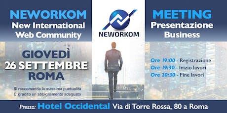Neworkom 26 settembre biglietti