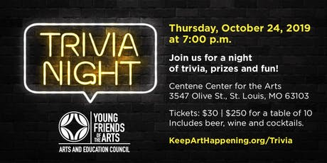 Young Friends of the Arts Trivia Night tickets