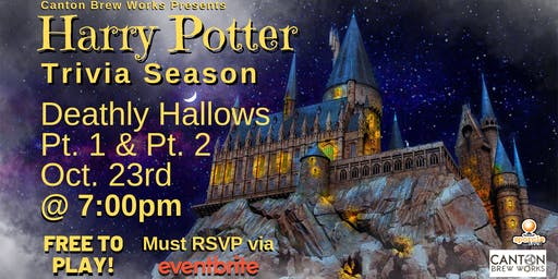A season of Harry Potter trivia @ Canton Brew Works! Week Four