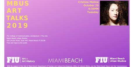 Art Talk by Cristina Molina tickets