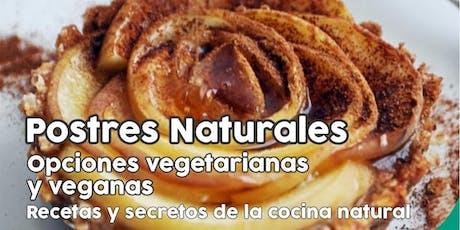 """TALLER GRATUITO """"Postres Naturales"""" - Vegetarianas y veganas entradas"""