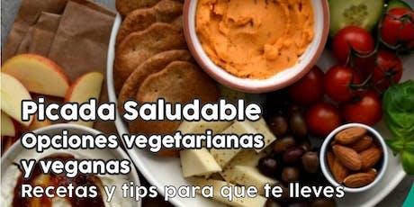 """TALLER GRATUITO """"Picada Saludable"""" - Vegetarianas y veganas entradas"""