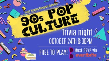 Sporcle Live presents: 90s Pop Culture trivia at Arbor Brewing!