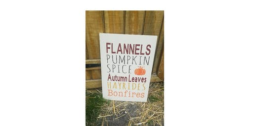 Flannels/Pumpkin Spice Sign